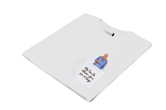 """T-Shura di lato - t-shirt con nonno stampato, maglietta con anziano che dice frase """"Alla tua età saltavo i fossi per il lungo"""", maglietta con i nonni per i nipoti"""